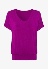 zero - Print T-shirt - magenta rouge - 4