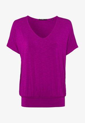 Print T-shirt - magenta rouge