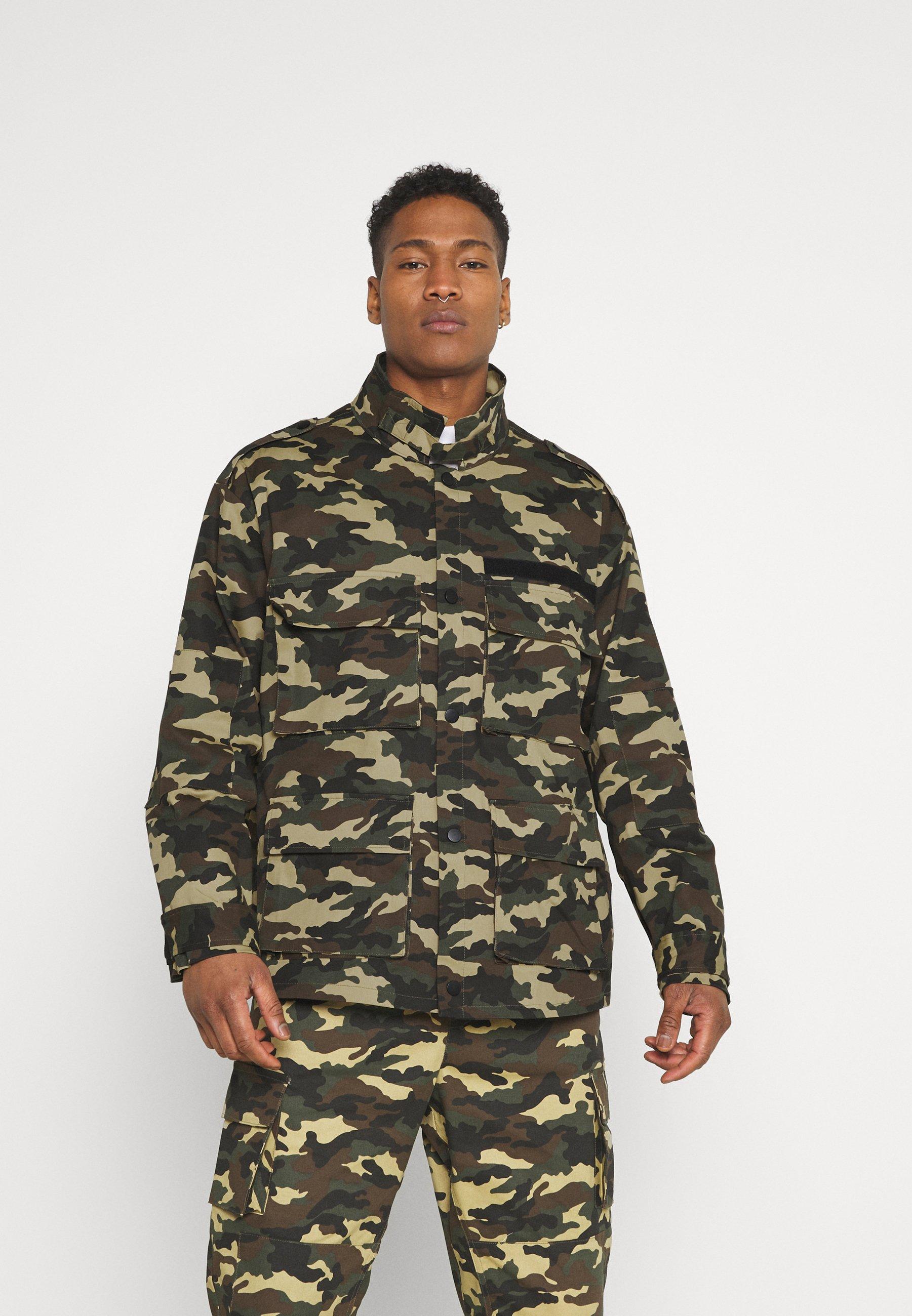 Men WOODLAND CAMO FIELD JACKET - Summer jacket