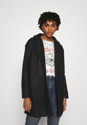 VIOLLY BUTTON COAT - Classic coat - black