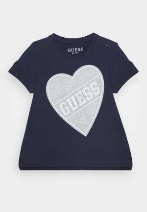 HIGH LOW BABY - Print T-shirt - deck blue
