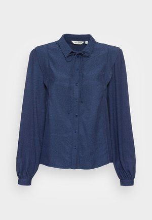 LHERBE - Button-down blouse - bleu marine