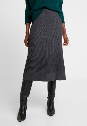 A-line skirt - mid grey melange