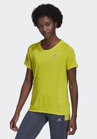 adidas Performance - ADI RUNNER PRIMEGREEN RUNNING - T-shirts - yellow - 3