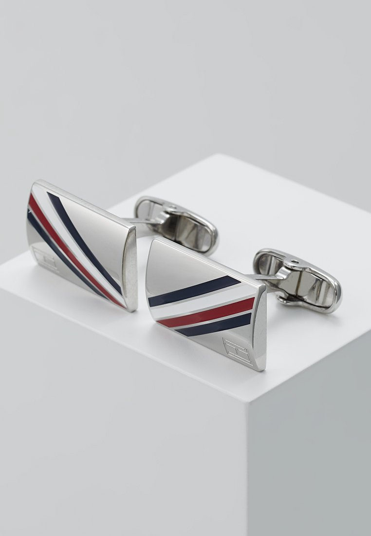 Tommy Hilfiger - DRESSED UP - Cufflinks - silver-coloured
