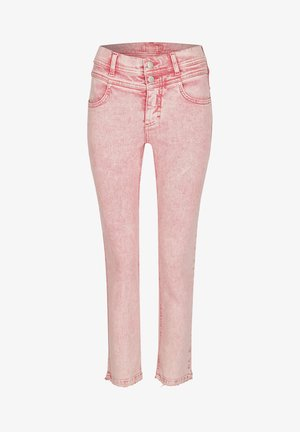 'ORNELLA BUTTON MOON'  - Slim fit jeans - rot
