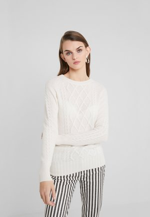 CABLE DETAIL  - Sweter - white