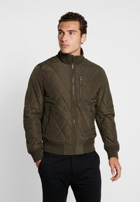 Tommy Hilfiger - DIAMOND QUILTED BOMBER - Light jacket - green - 0