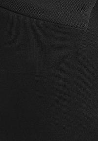 Topshop - PONTE CORSET CROP - Top - black - 2