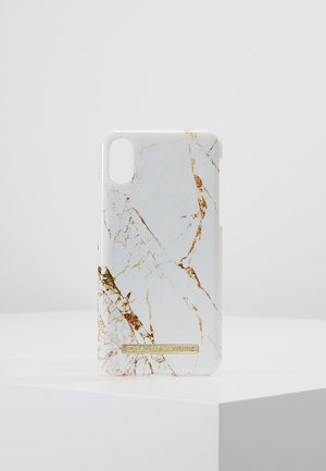 FASHION CASE IPHONE X/XS MARBLE - Phone case - carrara/gold-coloured