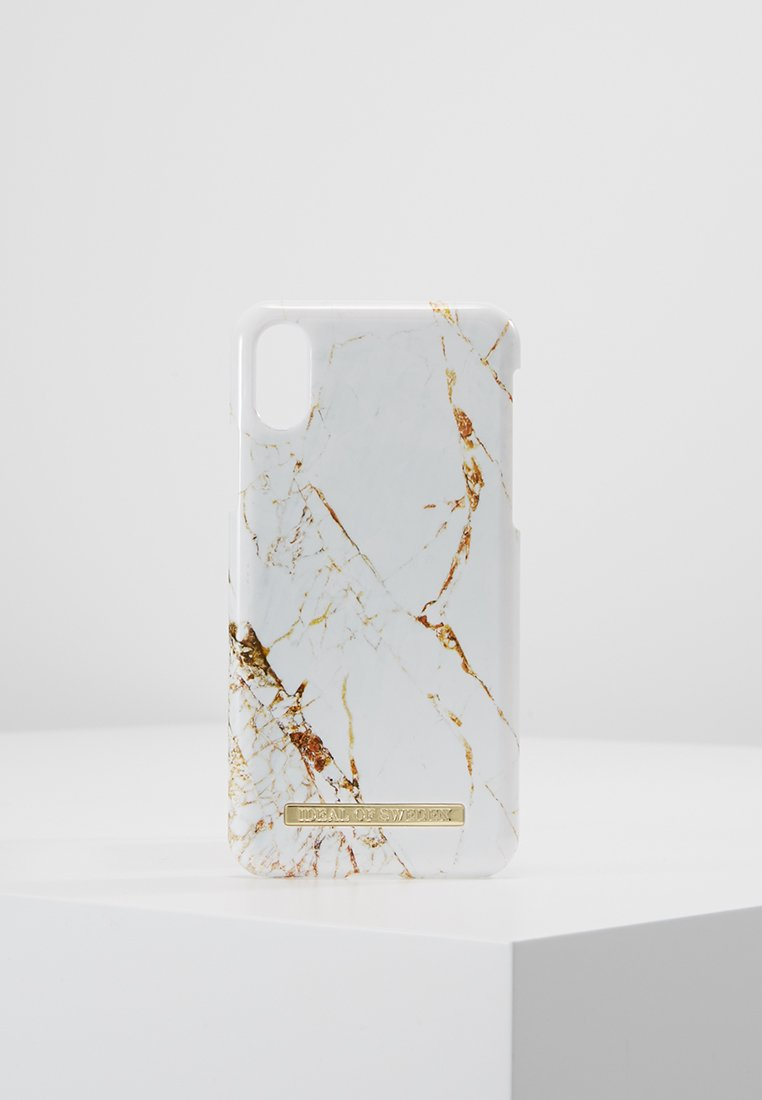 iDeal of Sweden - FASHION CASE IPHONE X/XS MARBLE - Handytasche - carrara/gold-coloured