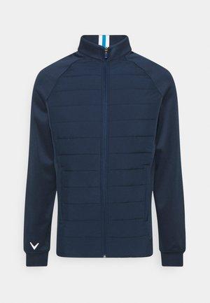 MIXED MEDIA JACKET - Outdoor jacket - dress blue