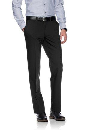 JAN  HERRENHOSE FLATFRONT - Suit trousers - black