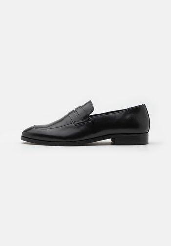 LEATHER - Elegantní nazouvací boty - black
