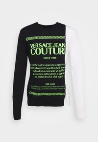 Versace Jeans Couture - Jumper - black/neon green/off-white - 7