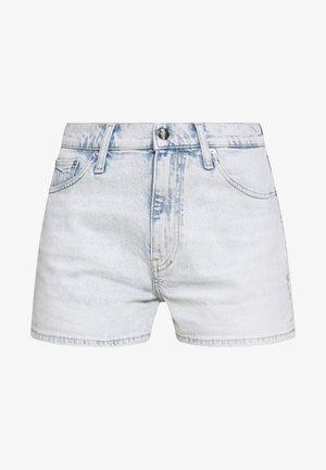 HIGH RISE - Denim shorts - bleached blue