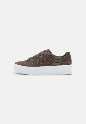 FLATFORM LACE UP MONO - Trainers - brown