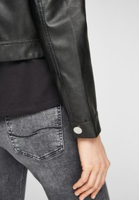 QS by s.Oliver - Faux leather jacket - black - 6