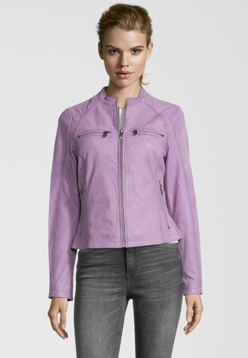 BE EXCITED - Leren jas - lilac