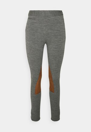 JOD ANKLE FLAT FRONT - Spodnie materiałowe - heather stylem