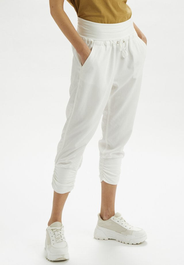 LINE PANTS - Bukser - snow white