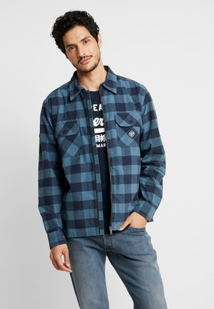 WORKWEAR ZIP THROUGH - Chemise - blue check
