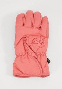 Jack Wolfskin - EASY ENTRY GLOVE KIDS - Gloves - coral/pink - 1