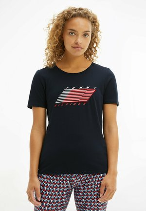 T-shirt con stampa - desert sky flag graphic