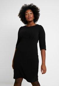 Dorothy Perkins Curve - EMPIRE WAIST DRESS - Jerseyjurk - black - 0