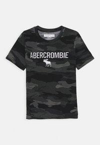 Abercrombie & Fitch - TECH LOGO - Triko spotiskem - black - 0