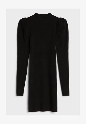 MIT RAFFUNG AN DEN SCHULTERN - Shift dress - black