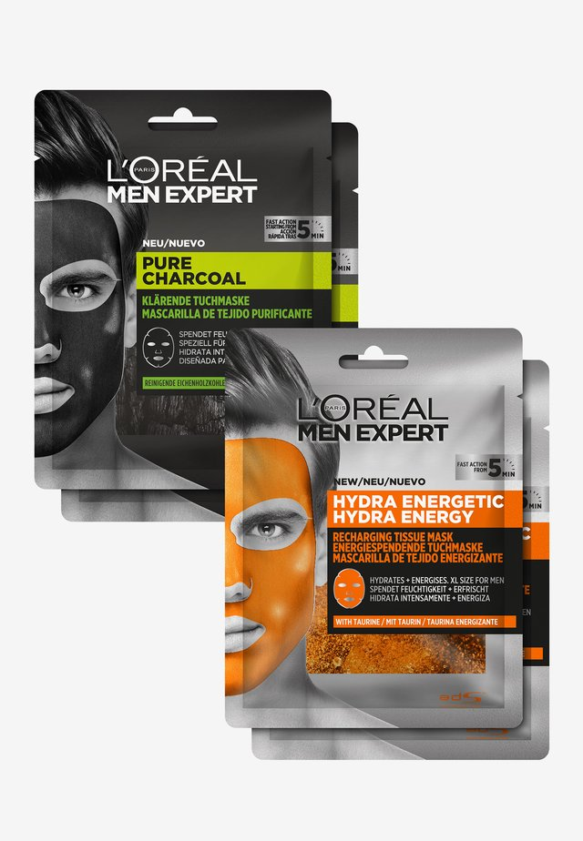 HYDRA ENERGY & PURE CHARCOAL FACE MASK SET - Hudplejesæt - -