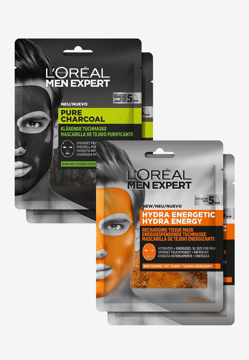 L'Oréal Men Expert - HYDRA ENERGY & PURE CHARCOAL FACE MASK SET - Skincare set - -