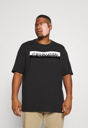 SPLIT LOGO - Print T-shirt - black