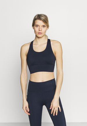 ULTIMATE LONGLINE CROP - Light support sports bra - navy