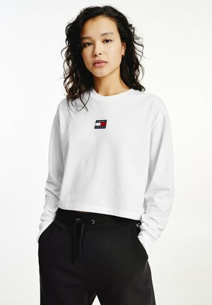 BADGE - Long sleeved top - white