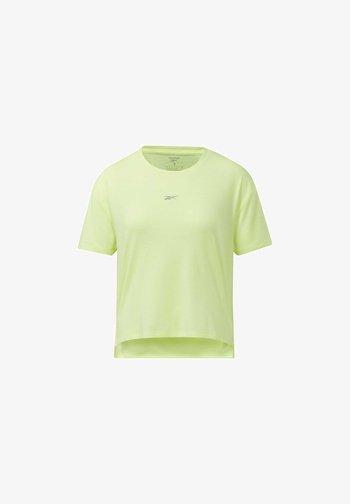 RUN ESSENTIALS SHORT SLEEVE GRAPHIC T-SHIRT - Print T-shirt - yellow