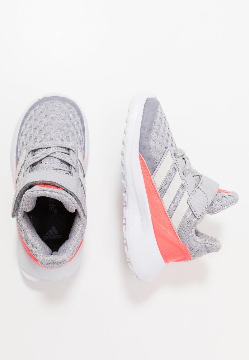 adidas Performance - RAPIDARUN UNISEX - Neutral running shoes - glow grey/grey one/signal pink