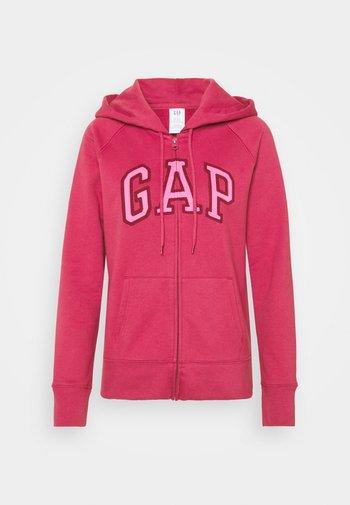 Zip-up sweatshirt - raspberry glaze