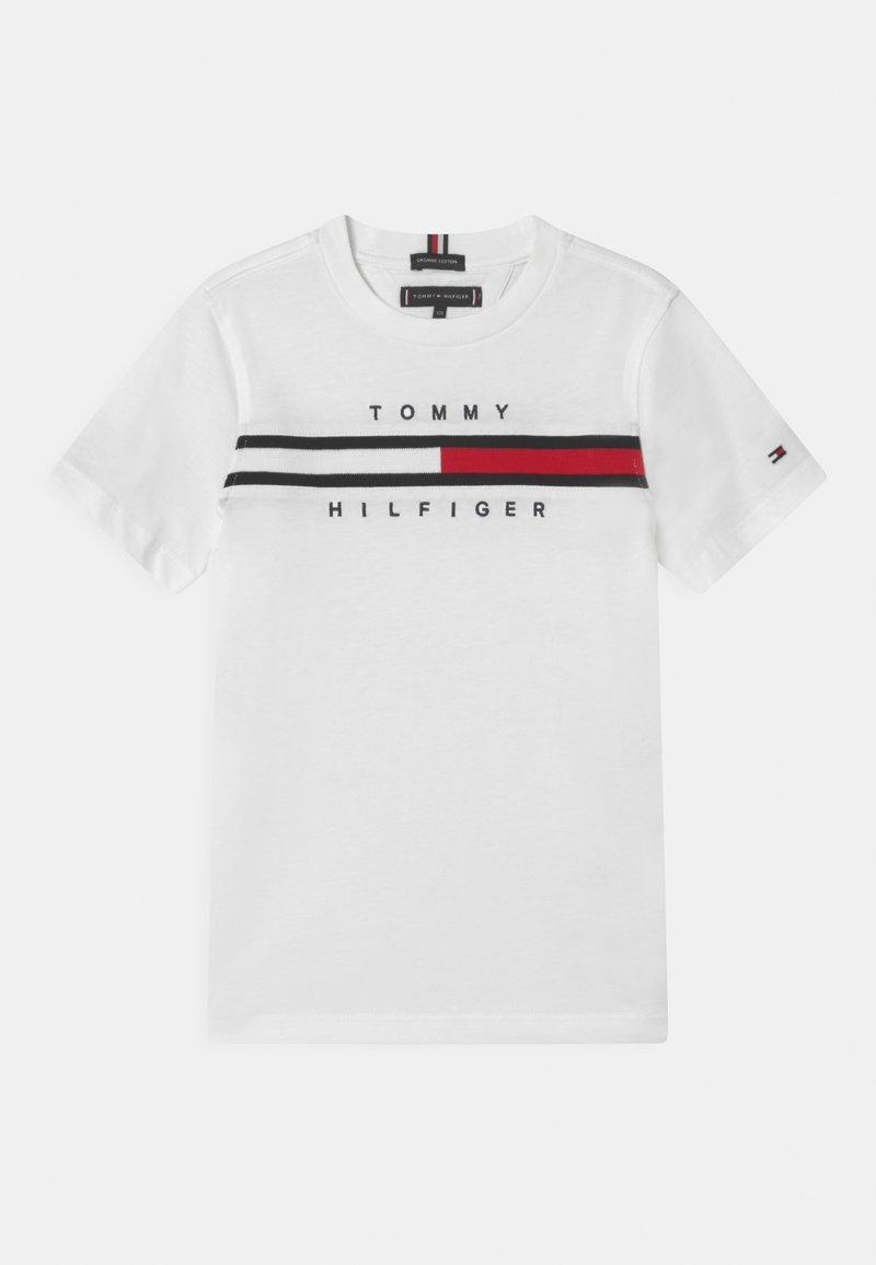 Tommy Hilfiger - FLAG INSERT - T-shirt imprimé - white