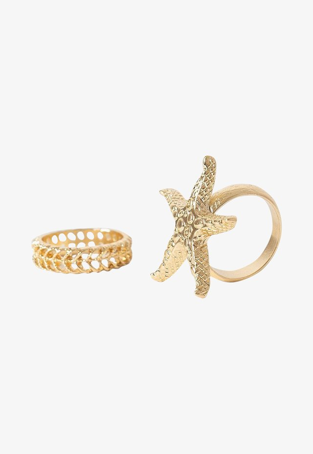 2 PACK  - Ringar - gold