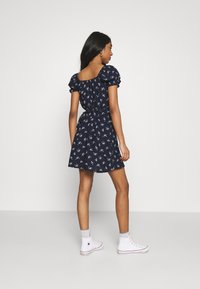 Hollister Co. - SPRING FLOATER WRAP DRESS - Day dress - navy floral - 2