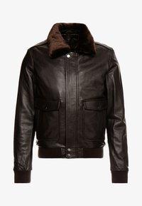 Serge Pariente - PILOT - Leather jacket - dark brown - 7