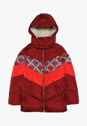 PADDED JACKET WITH COLOUR BLOCK AND DETACHABLE - Winterjas - plum