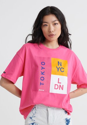 UNITY STACK  - T-shirt con stampa - sienna pink