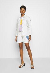 Topshop - ROY FRINGE JACKET - Leather jacket - white - 1