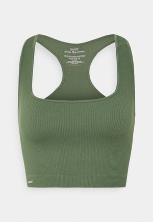 LOUNGE CROP - Bustier - green