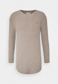 SIKSILK - LONG SLEEVE BRUSHED JUMPER - Strikpullover /Striktrøjer - beige - 3