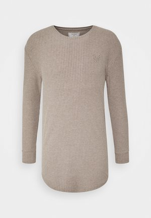 LONG SLEEVE BRUSHED JUMPER - Sweter - beige