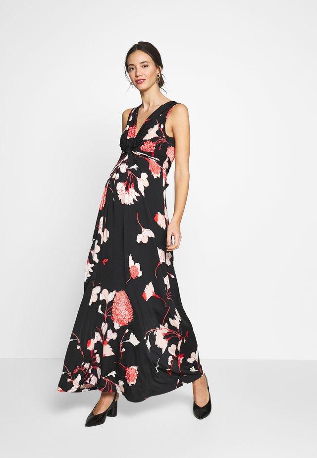 Vestido largo - rose/black